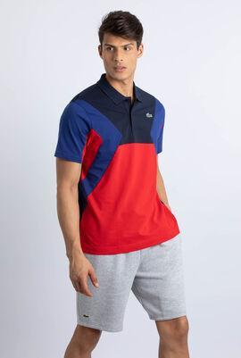 قميص بولو فائق الخفة لرياضة التنس بألوان متباينة