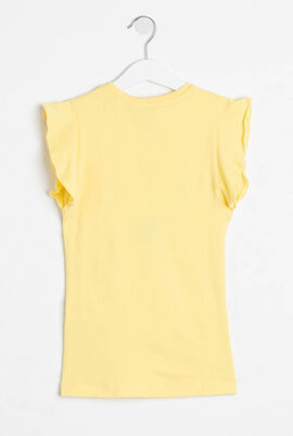Ruffled Sleeves T-Shirt Dress