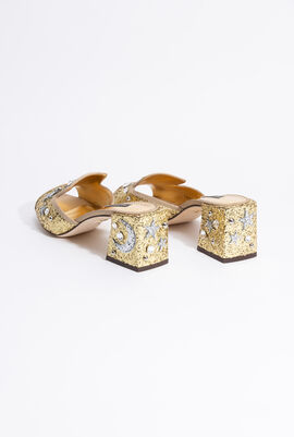 Star AND Moon Sequined Mules