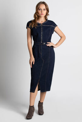 Decade Studs Denim Dress