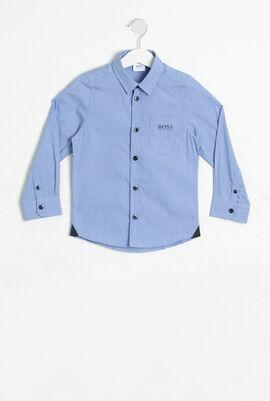 Mini Checked Pattern Long Sleeve Shirt