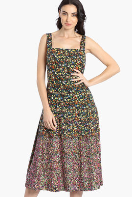 Sequin Embroidered Cotton Dress