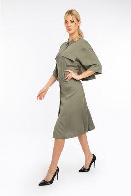فستان منسوج بتصميم انسيابي