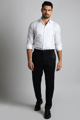 Regular Fit Strip Trousers