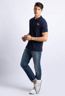 قميص بولو ذو قَصَّة ضيقة