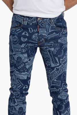Printed Skater Jeans