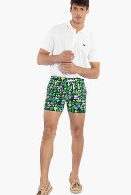 Light Print Swim Shorts