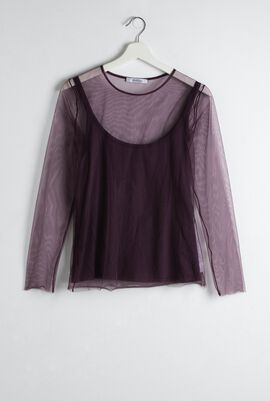 Maggio Tulle Jersey Top