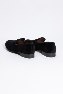 Suede Black Loafers