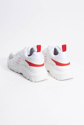 Wish Logo White/Red Sneakers