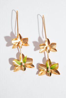 Dangling Flower Drop Earrings