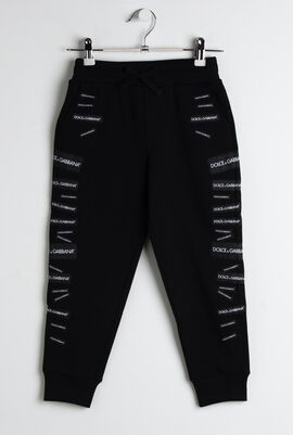 Multi Patch Cotton Jogging Pants