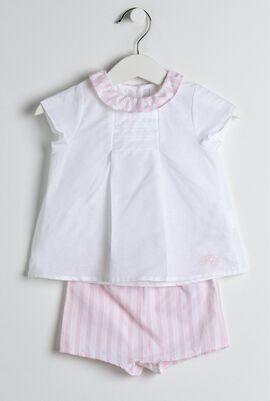Pink & White Garda Pyjama Set