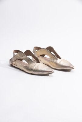 Cut-Out Ballerina Flats