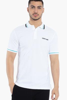 Contrast Stripes Trim Polo Shirt