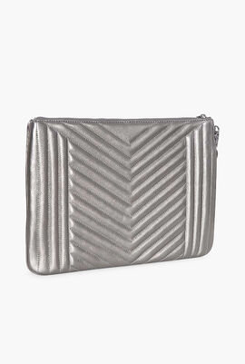 Jet Set Extra-Large Quilted Leather Pouch