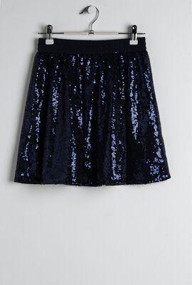 Navy Sparkle Skirt