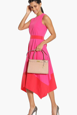 Lee Radziwill Embossed Small Tote Bag