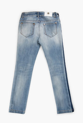 Acid Wash Denim Pants