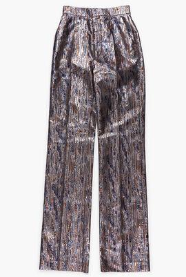 Straight Fit Lurex Pants