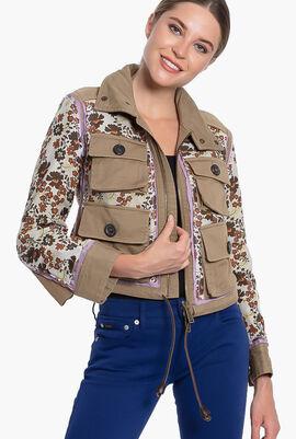 Floral Multiple Pocket Jacket
