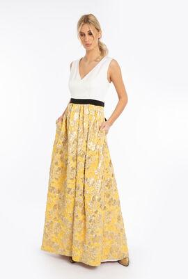 Floral Jacquard Sleeveless Dress