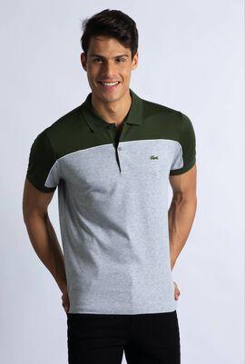 Regular Fit Piped Colourblock Polo Shirt