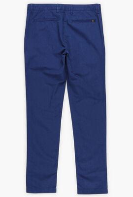 Slim Fit Cotton-Linen Chino Pants