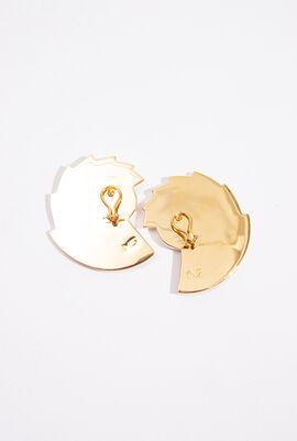 Nautilus Fan Clip Earrings