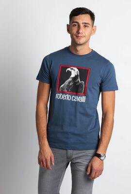 قميص تي-شيرت بطبعة نسر من مجموعة Serigrafata