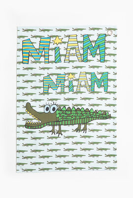 Croco Canvas Tea Towel