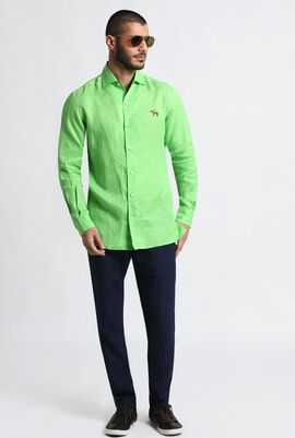Solid Tailored Fit Long Sleeve Shirt