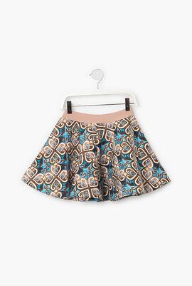 Printed Circular Skirt