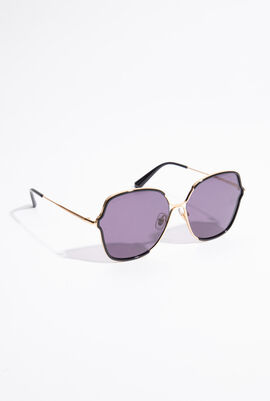 Two-Tone Oval Sunglasses