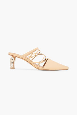 Lisa Strappy Leather Mules
