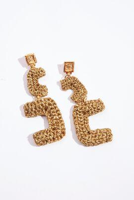 Crochet Deco Drop Earrings