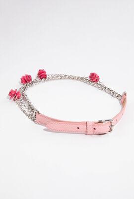 Rose Enamel Chain Belt