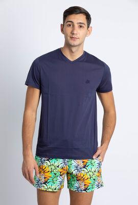 Tender V-neck Lagon Jersey T-shirt