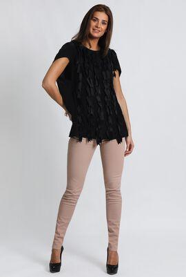 Ballata Lace Up Embellished Blouse