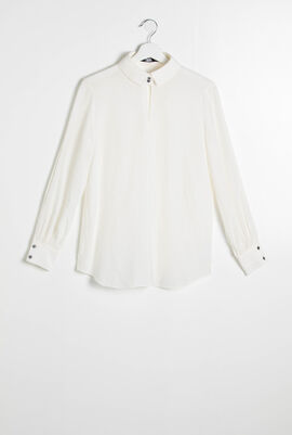 Karl Collar Silk Shirt