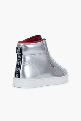Andys Leather High Top Sneakers