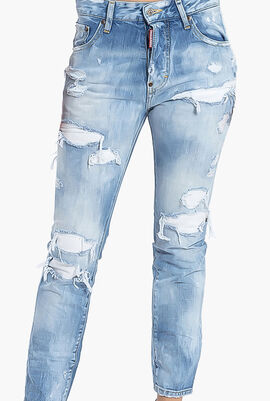 Slim Fit Rugged Jeans