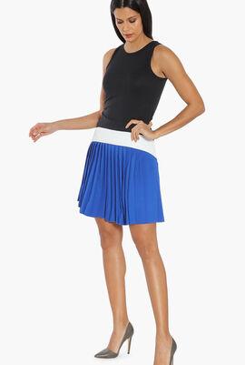 Colourblock Pleated Skirt