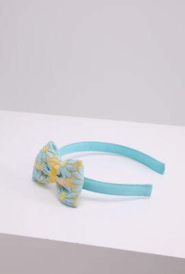 Floral Embroidered Bow Headband
