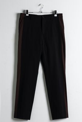 Side Stripe Cropped Trouser
