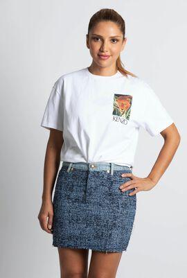 Tweed Denim Skirt