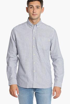 Oxford Wide Stripe Slim Fit Shirt