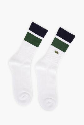 Lacoste SPORT Contrast Stripe Cotton Socks