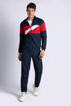 Colored Bands Taffeta Tennis Tracksuit