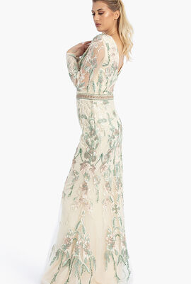 Floral Embroidered Mermaid Gown